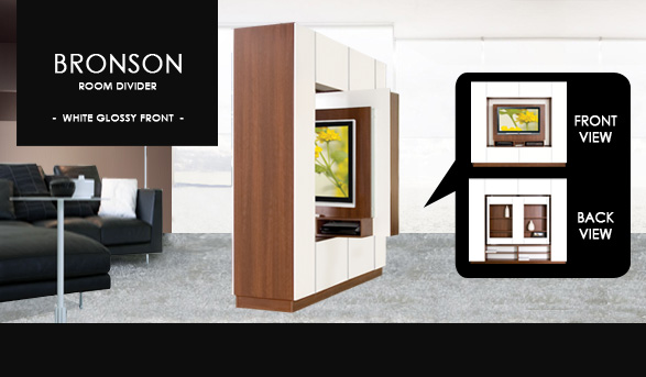 Bronson Room Divider with TV Opening