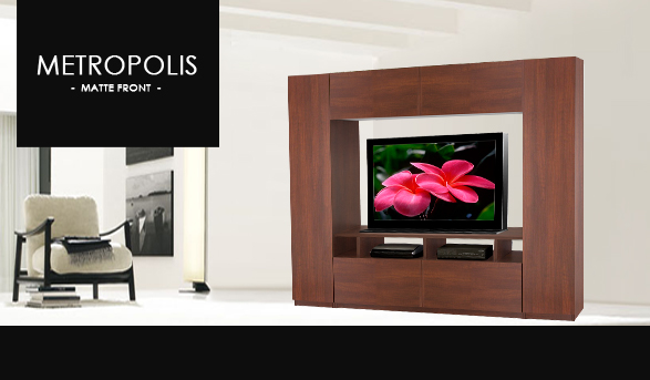 Metropolis Entertainment Center Wall Unit