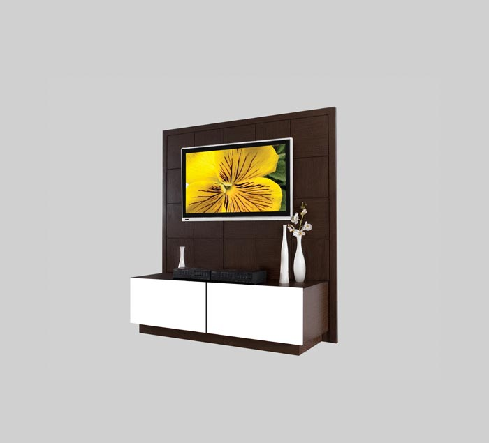 Jasmin Tv Stand W Back And Dual Sliding Drawer Space Contempo