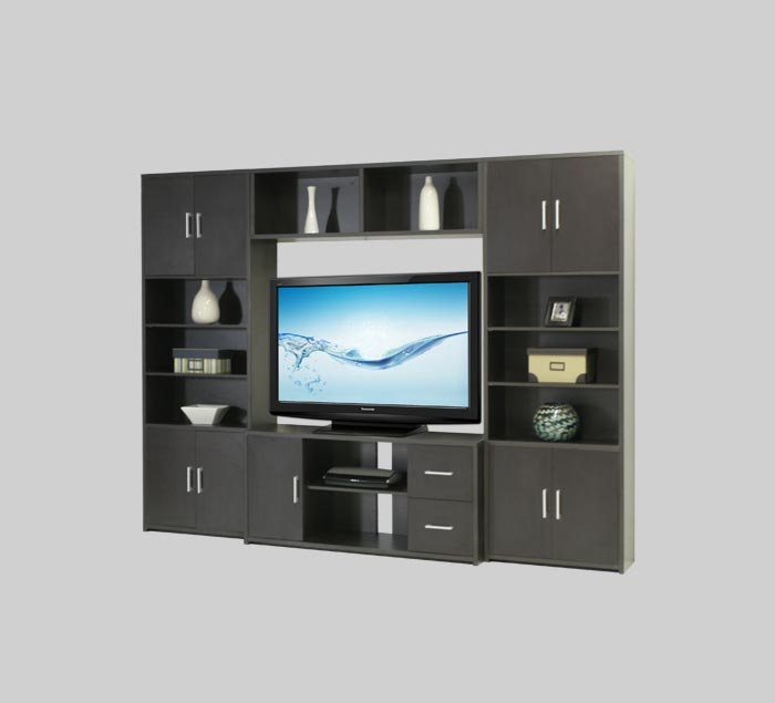 Stockton Entertainment Center | Wall Unit for Flat Screen TVs with Storage | Contempo Wall & Stockton Entertainment Center | Wall Unit for Flat Screen TVs with ...