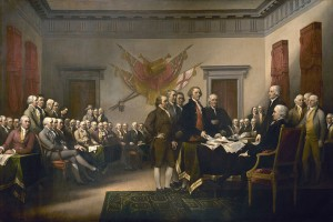 Our founders declaring independence from Great Britain.