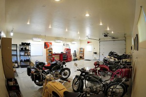A Man Cave for motorcycle lovers