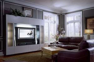 The Sawyer Entertainment Center Wall Unit