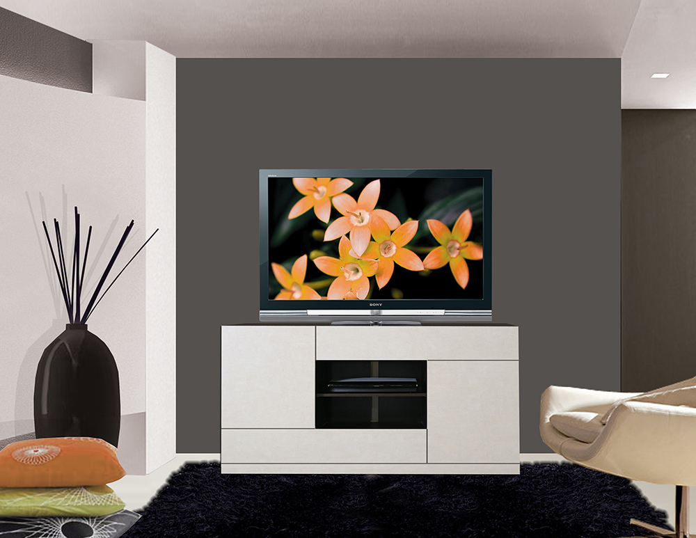 Tv stands are a sleek elegant display solution for small spaces contempo wall - Tv small spaces design ...